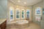 Impressive master bathroom with jacuzzi tub