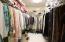 woman's master closet