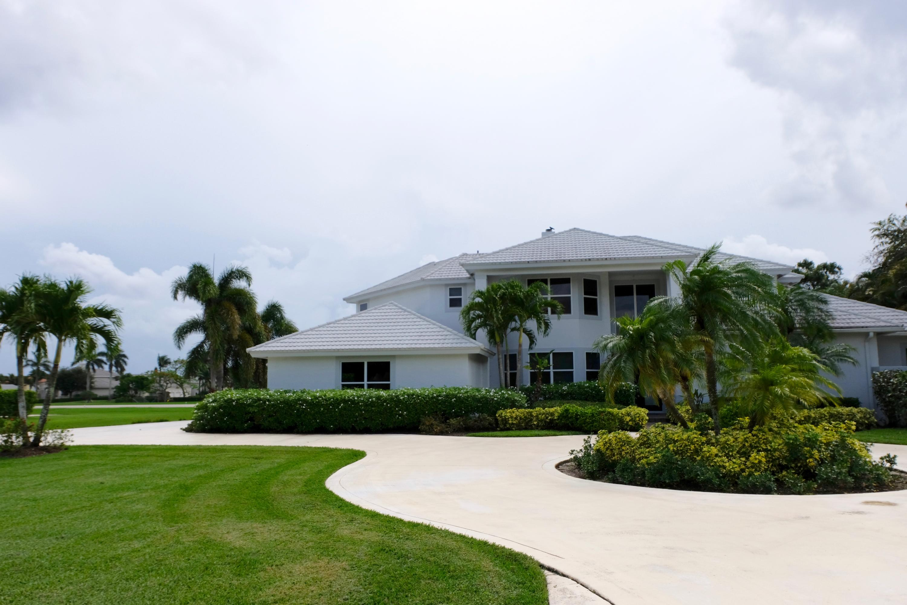 Two-story home located on runway.