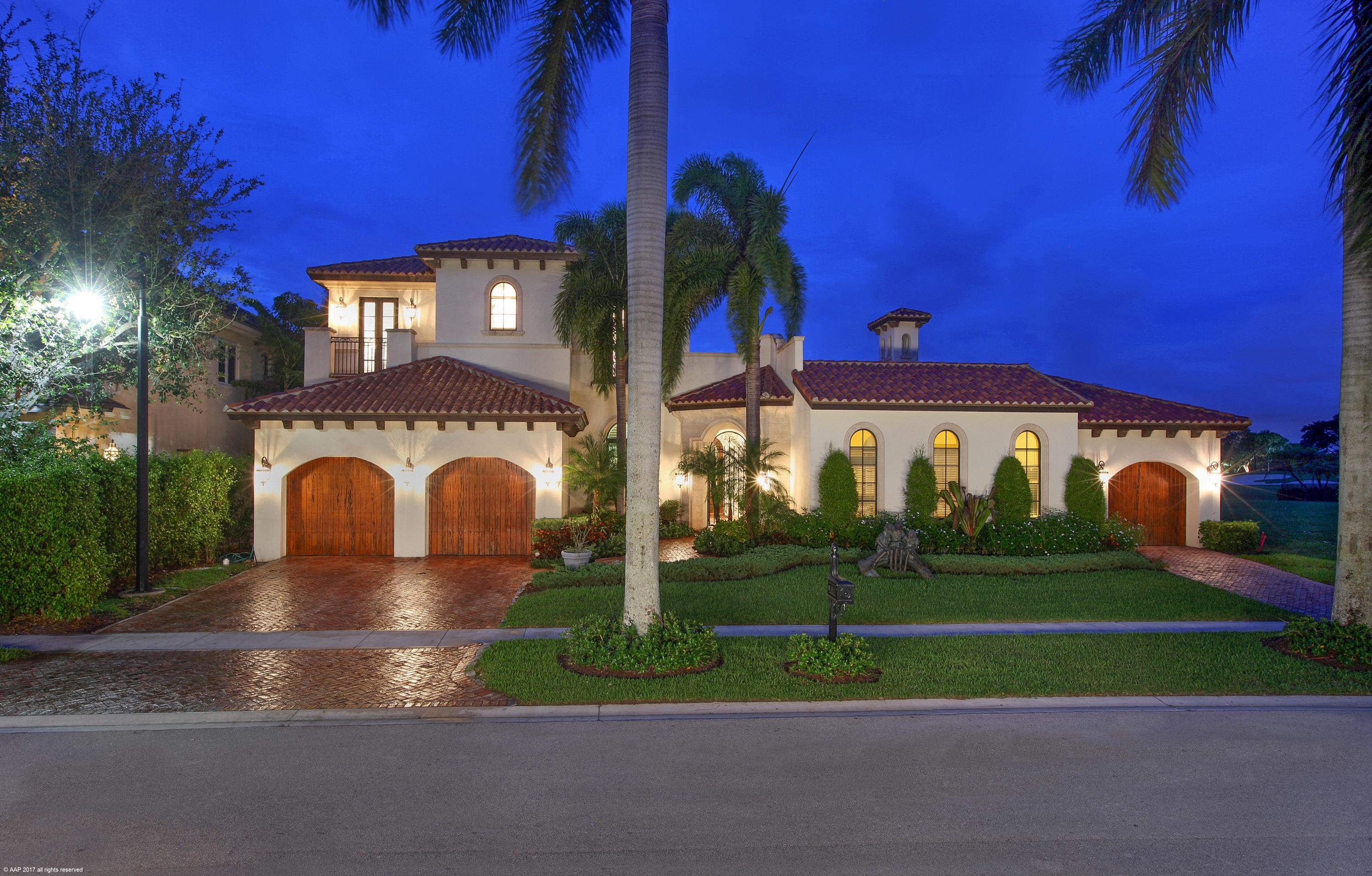 Magnificent Custom Home in Mizner Country Club w/impact glass/generator exquisitely designed in spanish revival style architecture. Formal living room w/vaulted cypress wood ceiling has Brazilian Walnut wood flooring. Wood floors accent the Dining Room,loft,& hallways throughout this estate. Distressed knotty Adler wood interior doors. Gourmet Chef's kitchen w/Subzero refrigerator, & prof. Viking gas stove. French Style sliding glass doors separate main living areas from tropical pool/spa, large covered loggia & outdoor summer kitchen overlooking serene lake & golf. Relax at the pool w/the sound of waterfall's. This 6 bedroom 6.2 bath home features 1st floor master suite, an additional guest suite & bonus room. Ascend sweeping staircase to a generous loft,4 additional guest rooms w/baths.. Magnificent Custom Home in Mizner Country Club w/impact glass/generator exquisitely designed in spanish revival style architecture. Formal living room w/vaulted cypress wood ceiling has Brazilian Walnut wood flooring. Wood floors accent the Dining Room,loft,& hallways throughout this estate. Distressed knotty Adler wood interior doors. Gourmet Chef's kitchen w/Subzero refrigerator, & prof. Viking gas stove. French Style sliding glass doors separate main living areas from tropical pool/spa, large covered loggia & outdoor summer kitchen overlooking serene lake & golf. Relax at the pool w/the sound of waterfall's. This 6 bedroom 6.2 bath home features 1st floor master suite, an additional guest suite & bonus room. Ascend sweeping staircase to a generous loft,4 additional guest rooms w/baths  ensuite and an additional outdoor loggia overlooking Mizner Country Club's new golf course & tropical pool area. Now is the time to buy in Mizner Country Club! Golf Equity is currently on special. This truly stunning home w/ unremitting lake and golf vistas should not be missed. Schedule a private tour today.