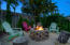 Beachy area with firepit