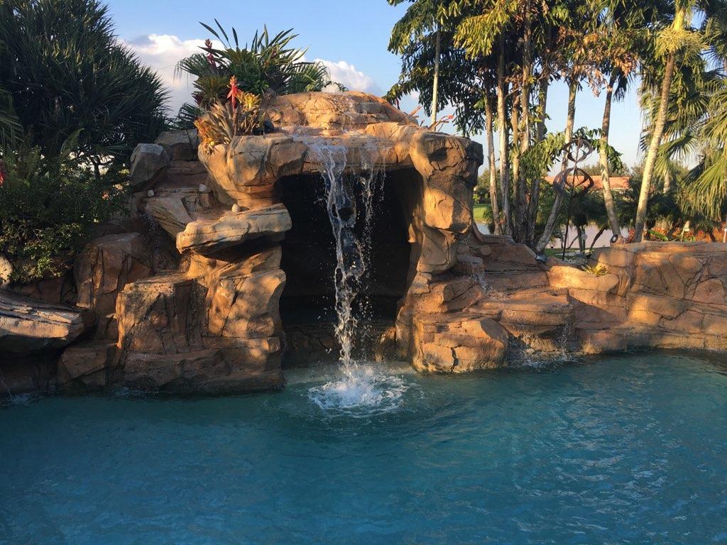 42 ft. waterfall pool