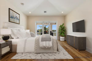 Digitally Staged Master Bedroom