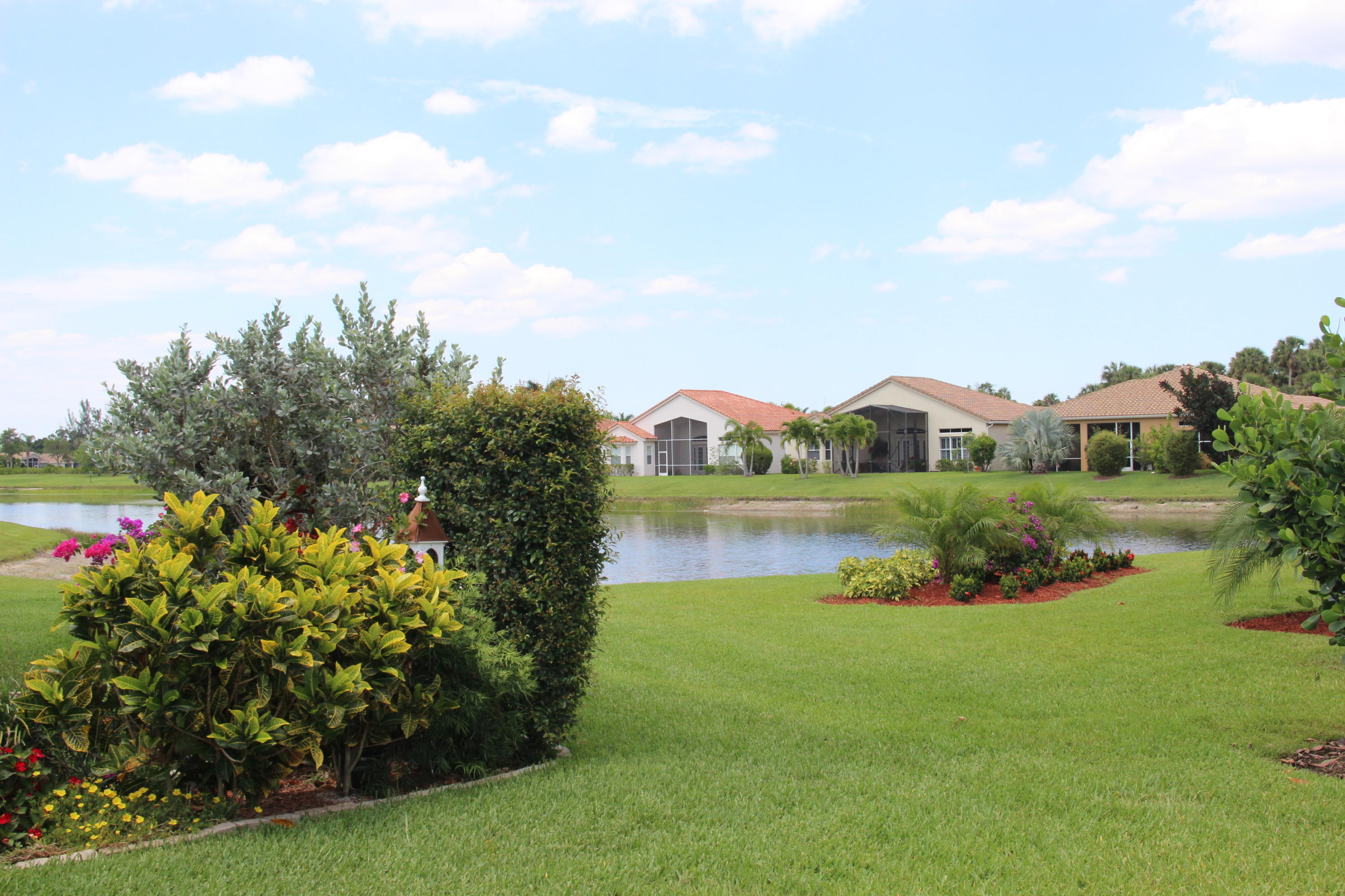 Paradise can be yours, in this spacious ''PERDIDO KEY'' home. Enjoy sitting on the lanai with a  lake view, 3 bedrooms, 2 1/2 baths, Plus Den, 2 1/2 car garage with golf cart door, built in 2015. Private master suite, split bedroom floor plan make this a dream home for Florida living. Hurricane impact windows throughout, alarm system, gas water heater. Gourmet kitchen SS appliances, oversize granite island, 5 burner gas stove, French door refrigerator, double oven, convection oven, 42'' cabinets, walk in pantry. Many upgrades, custom landscaping. crown molding, trey ceiling, hunter Douglas remote control window treatments, custom built in closets with motion light sensors. Spa shower in master bath with double shower heads and spa bench. Move in ready shows like a model