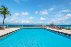 Overlooking the Atlantic Ocean sits the Patrician's amazing olympic sized pool