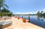 sun-drenched patio and day dock