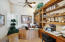 WONDERFUL HOME OFFICE WITH TWO WORK STATIONS, LOTS OF SHELVING AND STORAGE
