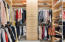 TWO LARGE WALK-IN CUSTOM BUILT CLOSETS