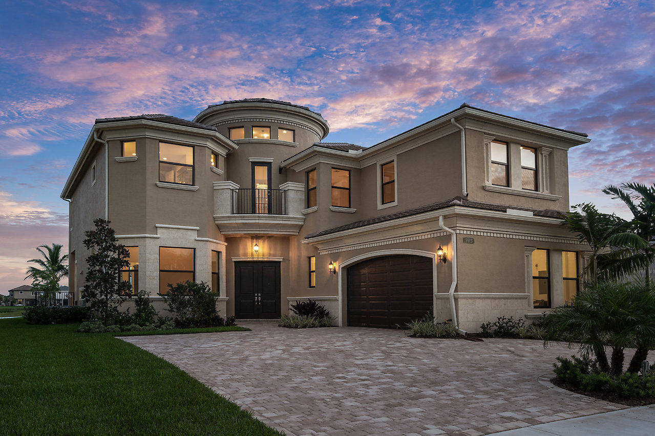 If you've always dreamed of living a resort-style life in one of Florida's newly developed, state-of-the-art communities then this just completed, custom home in Seven Bridges could be everything you desire and more. Seven Bridges offers the best of luxury, country club living in sunny Southern Florida. World-class tennis, gourmet dining and exciting activities make Seven Bridges the place to live in Boca/Delray.Brand new construction, Sydney home offers over 3800 SF of living space, this 4-BR/5-BA dream home has it all with over $400k in custom upgrades including a $90k lot premium for being over-sized and facing the longest lake view. Open, bright, clean and fresh, you know you're experiencing luxury in this Seven Bridges custom stunner. Enter through stately double doors and feast upon gleaming white marble floors of the two-story entry foyer. The magnificent, white wood circular staircase captivates as you gaze upon the expansive great room which opens to the kitchen and dining areas. The family-friendly open floor plan features a library/office just off the great room, as well as, a guest bedroom suite. Upstairs you will find an expansive master bedroom suite with an elegant bathroom and oversized closets, as well as, two more guest bedrooms each with ensuite baths. Elegance is evident in every room of this home.  The great room provides soaring views of the upper balcony and through the gorgeous large glass doors you can see the covered patio and glimmering waters of the pool and spa cascading out over the longest unobstructed view of the center of the lake. The double height walls are all bathed in natural light through hurricane glass. Your guests can move easily from the great room to the adjacent dining room offering you the perfect place for formal meals and entertaining.  The very large, completely upgraded gourmet custom kitchen with its exceptional natural lighting and expansive lake views offers a center island with seating for five. The counter tops are beautiful white granite. The custom cabinetry is finished black wood. The hooded 5-burner gas range features an open glass backsplash. All the appliances are top of the line stainless steel including a Sub-Zero refrigerator. There's a spacious, walk-in pantry providing plenty of storage space.  Going up the spiral staircase with white wood and iron railings, you step from the shining marble floors onto the gleaming wooden stairs that lead to the large master suite. The view from the balcony at the top of the stairs is breathtaking and is just the beginning of the luxury awaiting you in the Master Suite with bath. The Master Suite has a spacious sitting area and two walk-in closets. The very large master bath has a roman tub, separate shower, bidet, dual sinks and white granite countertops.  No expense has been spared in this completely upgraded, custom, lakefront masterpiece. Marble floors span the house. Upgraded cabinets throughout. Outdoor grill. Heated saline pool with attached waterfall spa. Oversized, premium ($90k extra), facing the longest length up the center of the lake lot off the cul de sac. Upgraded paver driveway. Electric car outlet in the 2-car garage. Centralized sound system. Security system. In total, over $400k of upgrades invested in this beauty.   Seven Bridges is the ultimate luxury community of Boca/Delray. Impressive bridges span sparkling waterways and elegant neighborhoods. A breathtaking entry, clean streets, gorgeous residences and world-class amenities are all a part of life at Seven Bridges. The community's desirable location offers easy access to upscale shopping, gourmet dining, nightlife, great schools, airports and major roadways.   Seven Bridges' amenities rival the finest resorts with pleasurable ways to spend your leisure time. The expansive 30,000 sq. ft. clubhouse has it all with a well-appointed lounge and an adjacent catering kitchen. Host socials with neighbors and friends. There are two card salons, a game room, a kids' room and an indoor sports court for basketball, volleyball and more. Stay in shape at the fully-equipped fitness center, group fitness studio and multi-purpose room for personal training. Relax post-workout in the saunas and massage rooms adjacent to the men's and the women's locker rooms.   Step outside and unwind in the Florida sunshine at the resort-style pool with sun shelf, spa, and sundeck with luxurious shade cabanas. Or utilize the separate lap pool and quiet pool area. The poolside bistro offers indoor and outdoor bars. There's a kid-friendly wading pool play area, shaded playground, party pavilion and full-court basketball. Tennis lovers can play in leagues, take lessons or just catch a match with friends on the 12 Har-Tru courts and one hard court, all lit for night play. The tennis center also boasts a pro shop, shaded courtside pavilions and spectator viewing areas on two sides. Seven Bridges was carefully designed to encompass every aspect of resort-style, luxury living.   To enhance your amazing lifestyle at Seven Bridges, you'll also enjoy a prestigious Boca Raton/Delray Beach address. This community is near the excitement of Downtown Delray's Atlantic Avenue, which offers exquisite waterfront dining, shopping, and nightlife. Plus, you're just minutes away from everyday conveniences including grocery stores, banks, high-end salons, pharmacies and more. You will love luxury resort living at Seven Bridges in this finely finished, brand new stunner with its captivating water views.