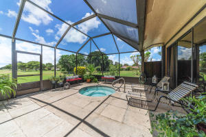 Large Patio with splash pool and expansive views of golf course