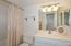 Remodeled clean as a whistle guest bathroom
