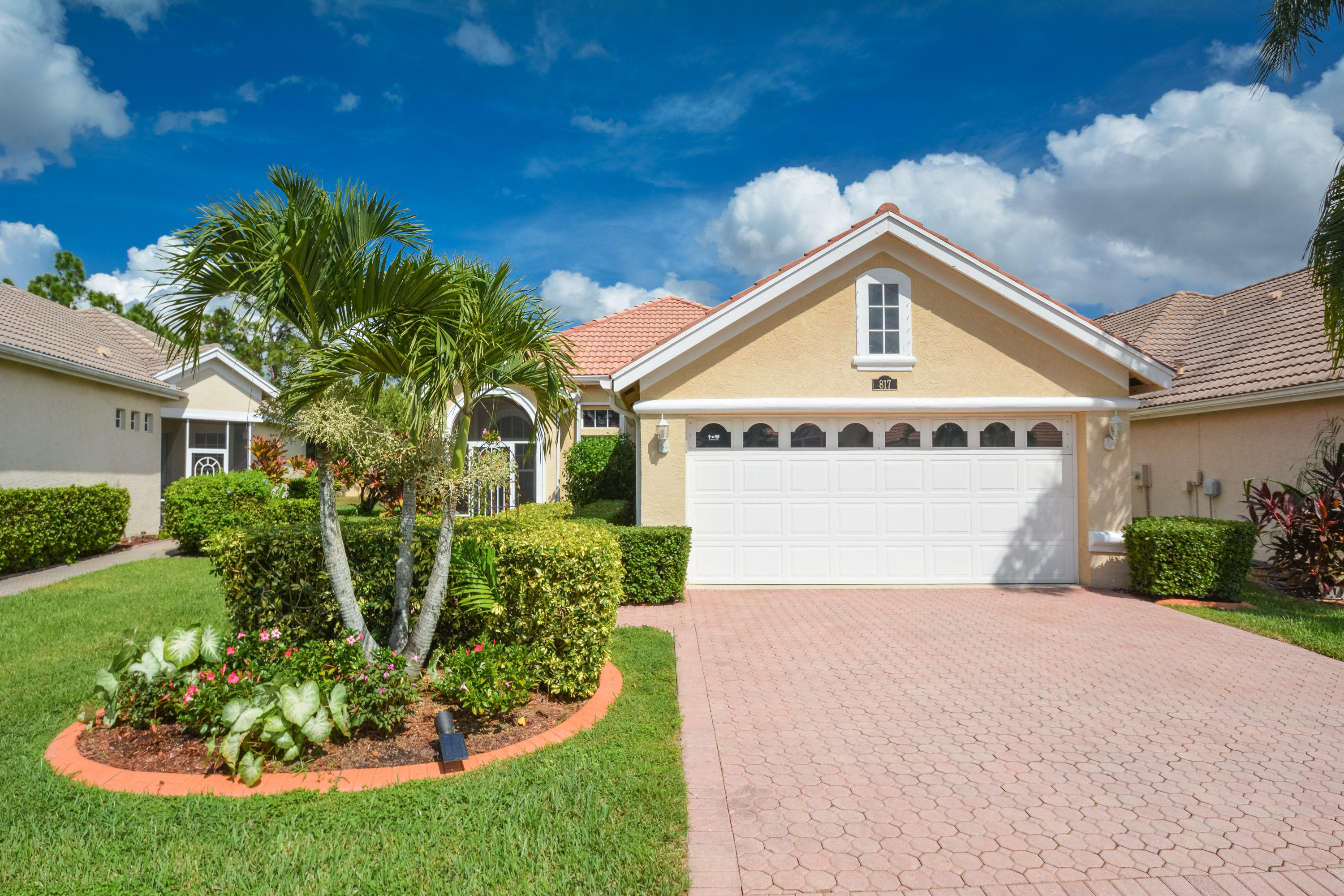 Immaculate 2/2/2 Home with Den in the sought after community of Lake Charles ready for new owners. This Gated Community is located in Saint Lucie West close to i-95, shopping, restaurants, financial institutions, Mets spring training complex, PGA Golf Courses and much more! This Ashley Model home has many GREAT features such as: Complete wall to wall tile, High Ceilings, Large Kitchen, Den, New Fans, New Lighting, New Screens, New Water Heater, Fresh Interior Paint, New Accordion Shutters, Beautiful Butterfly Garden and much much more! Home show like a model ! HURRY this home will not last long!!! Call and schedule your private tour today!