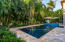 Custom saltwater pool.