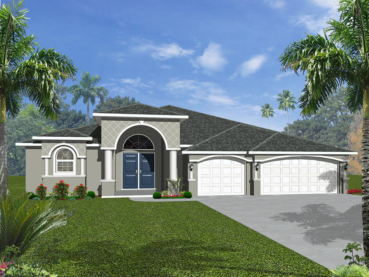 TO BE BUILT! NEW CONSTRUCTION! BUILD THE HOME OF YOUR DREAMS IN PARADISE! KEY WEST STYLE HOME This spacious 4 bedroom, 2 bath, 2 car garage home can be built for you in the Treasure Coast Airpark Community of Port Saint Lucie on your 2.69 acre lot! Come bring your planes and cars! You can choose options of finishes and fixtures from countertops, appliances, tile and much, much more.