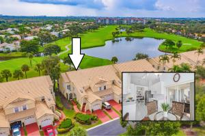 End unit overlooking gorgeous golf course and lake views.