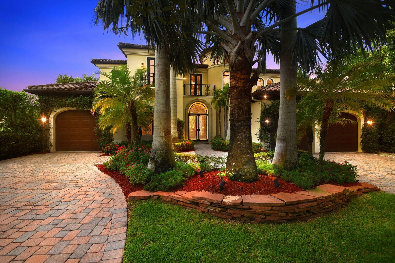 This Beautiful two story Balmonte Grande III Estate home located in the Prestigious gated community The Oaks at Boca Raton. State of the art kitchen featuring top of the line appliances, granite counters, cherry cabinets. Designer Mahogany built in Wall Units in Family rm, Master Bdrm suite (1st level), Library and Media Rm. Impressive Custom Wrought Iron Gate at front door entrance, Beautiful Exotic Wood Floors and Polished Saturnia Marble. Gorgeous Palm Beach Style Pool area with Lush Landscape enhancements. Fabulous Viking State of the art outdoor Grill area. Cabana bath convenient to pool area with Italian statues and urns creating a European ambiance with California style Hurricane impact glass double doors that open onto Veranda. All material presented herein is intended for information purposes only. While this information is believed to be correct, it is represented subject to errors, omissions, changes or withdrawal without notice. All property information, including, but not limited to square footage, room count, number of bedrooms and the school district in property listings are deemed reliable but should be verified by your own attorney, architect or zoning expert. No Commission Paid Unless Title Passes.