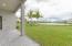 Backyard with double lake view
