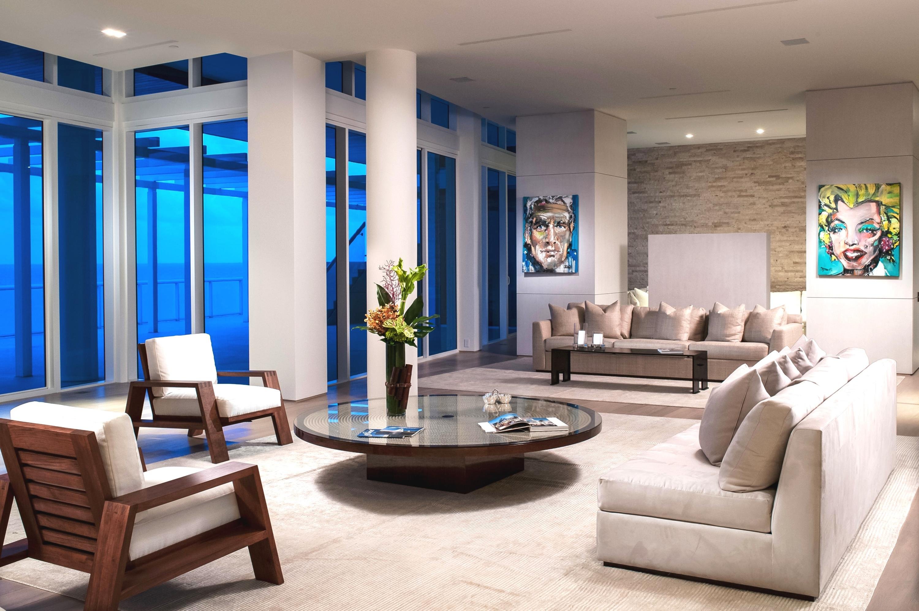 The breathtaking Ocean Penthouse at One Thousand Ocean in Boca Raton, a contemporary masterpiece unlike any property in South Florida, elevates the residential experience to the pinnacle of elegance and luxury. The largest condominium in Palm Beach County, at 11,000 square feet overall, this four-bedroom oasis offers dramatic views of the Atlantic Ocean to the east and the Intracoastal Waterway to the west.Beautifully designed and appointed to an exceptional bespoke standard, this one-of-a-kind penthouse embodies the spirit of distinction by incorporating exquisite materials sourced from around the world throughout its living spaces. Soaring ceilings and an open floor plan, along with a chic European palette of natural hues, add to an ambience that's both sophisticated and inviting A generous entertaining area includes a spacious dining room and family room, as well as a gourmet, state-of-the-art kitchen with Sub-Zero and Miele appliances, and European cabinetry. The penthouse also features a laundry room (with secondary access for staff), a glass-enclosed office and a breakfast room. The emphasis on superior quality and detailed craftsmanship reveals itself at every turn, from subtle design touches to elegant oak flooring to the Calcutta marble and Dornbracht fixtures in the master bath (one of five full baths, along with one half-bath). Floor-to-ceiling sliding glass doors open to a staggering 4,000 square feet of outdoor space (to go with 7,000 square feet of interior space) and, of course, the breathtaking views of the turquoise sea and South Florida skyline.  One Thousand Ocean, designed by award-winning Garcia Stromberg Architects, is recognized as one of Florida's most prestigious, secure and private addresses, comprised of 52 residences and villas. Those fortunate enough to call this penthouse a home will also benefit from a membership to the Boca Raton Resort & Club, a Waldorf Astoria property, offering world-class leisure, spa and entertainment facilities,