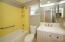 Updated vanity, combination tub/shower