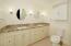 Custom vanity with granite and dual sinks