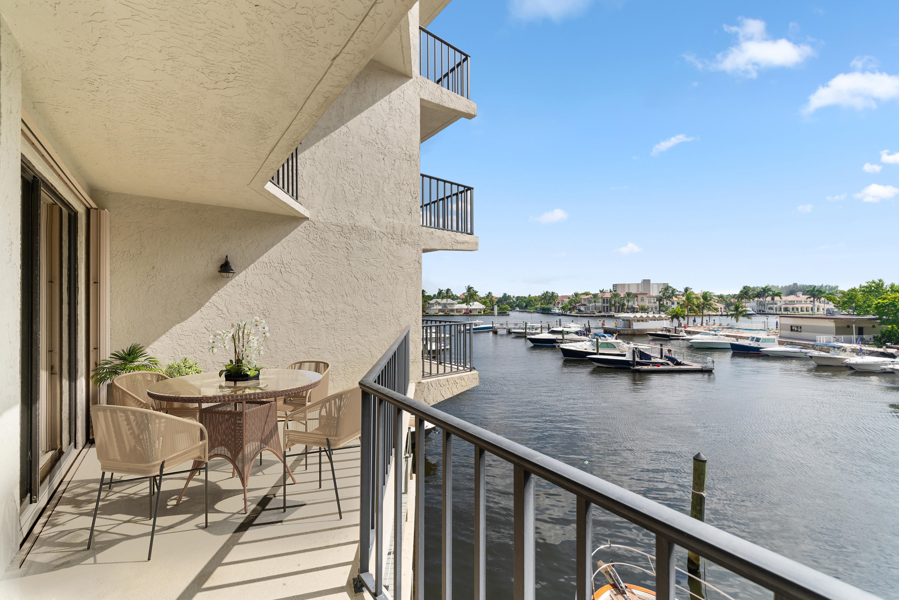 Impeccably renovated townhouse/condo with impressive Marina and Intracoastal views! With over $300k in upgrades, nothing was left undone in this property. The extra-large master suite has a two large walk-in closets, sitting area/office, its own balcony and updated bathroom with dual sinks and custom cabinets. Delray Harbor Club is a private marina community located just a few short blocks from trendy Atlantic Avenue in Downtown Delray Beach. This property makes a great primary/secondary residence or investment property with no rental waiting period. Residents can walk, bike or take a short ride to Delray's famous Atlantic Avenue and beautiful beaches. Pet-Friendly Delray Harbor Club has only 50 residences and is one of the best kept secrets in Delray Beach on the direct Intracoastal!