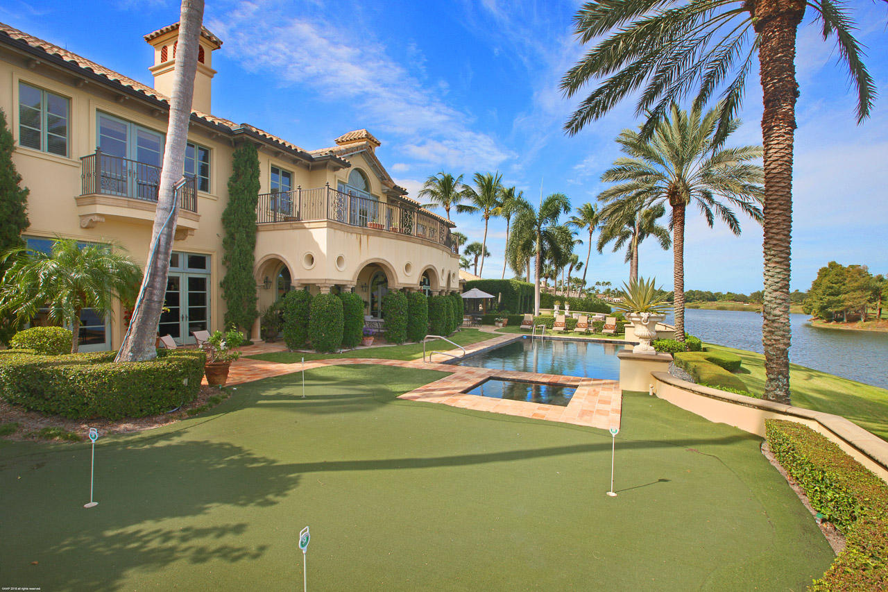 Rear VIew with Putting Green and pool