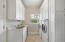 Laundry Room with walk in pantry