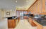 Stunning Honey with Sable Glaze Wood Cabinets. Extended Counter.