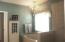 Separate soak tub and shower