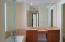 dual sinks, jacuzzi tub, walk-in shower with ocean view. Even extra linen closet.