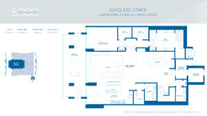 Seaglass Lower Floorplan