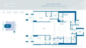 Seaglass Upper Floorplan