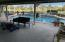 Waterfall pool and covered porch