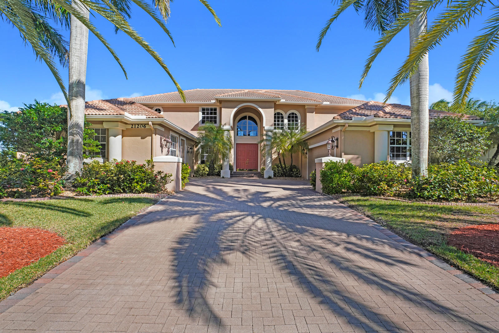 """Largest, most sought after model in Boca Falls. There are 5 bedrooms + den (6th) + game room + media room + workout room + storage room. Could easily be 7 bedrooms if needed by adding a closet to media room. Situated on private, fenced .35 acre,  lake lot in the Estates section. Oversized, pavered patio w/summer kitchen surrounds the sparkling pool. Outdoor shower.Open, eat-in kitchen w/wood cabinets, granite counters, stainless steel appliances, center island, planning desk + a walk-in pantry/wine closet under the staircase. Stone look tile on diagonal. 1st floor Master Suite has crown molding, customized closets, sitting area overlooking pool & luxurious bathroom w/2 vanities, soaking tub + separate shower w/seat. Full hurricane protection. 3 zone AC. 2 water heaters. ''A'' rated schools ANSWERS TO FREQUENTLY ASKED QUESTIONS:  * Roof - 1998 * 2 brand new water heaters - Fall of 2018 * THREE zone Air Conditioning - 2006 (2) 2010 (1) * Hurricane Protection - Impact windows upstairs (2013). Panel shutters downstairs. Hurricane rated garage door. Hook-up for generator in garage.  * Inside laundry room w/cabinets, sink & pulldown ironing board * NO POPCORN - knockdown finish on ceilings * TWO powder rooms - one serving as cabana bath out to pool * Upstairs game room has wet bar, refrigerator, window seat w/beautiful lake views + a pool table (included at no extra cost). * Theater seats in media room are negotiable. * HOA fee covers 24 hour manned gates, clubhouse/community room, community pool, lighted tennis courts, playground, fitness center & cable.  * """"A"""" rated schools: Waters Edge Elementary, Loggers Run Middle and West Boca High School * Convenient neighborhood shopping includes Publix, Walgreens, dry cleaners, hair & nail salons, numerous restaurants, Sherwin Williams paint store +++++++ * South County Regional Park is just moments away for enjoying the water park, ballfields, concerts at the Amphitheater and more."""