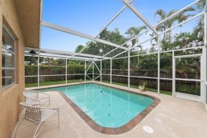 Large yard - screened in pool. No HOA!