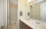 Combination tub/shower and dual sinks