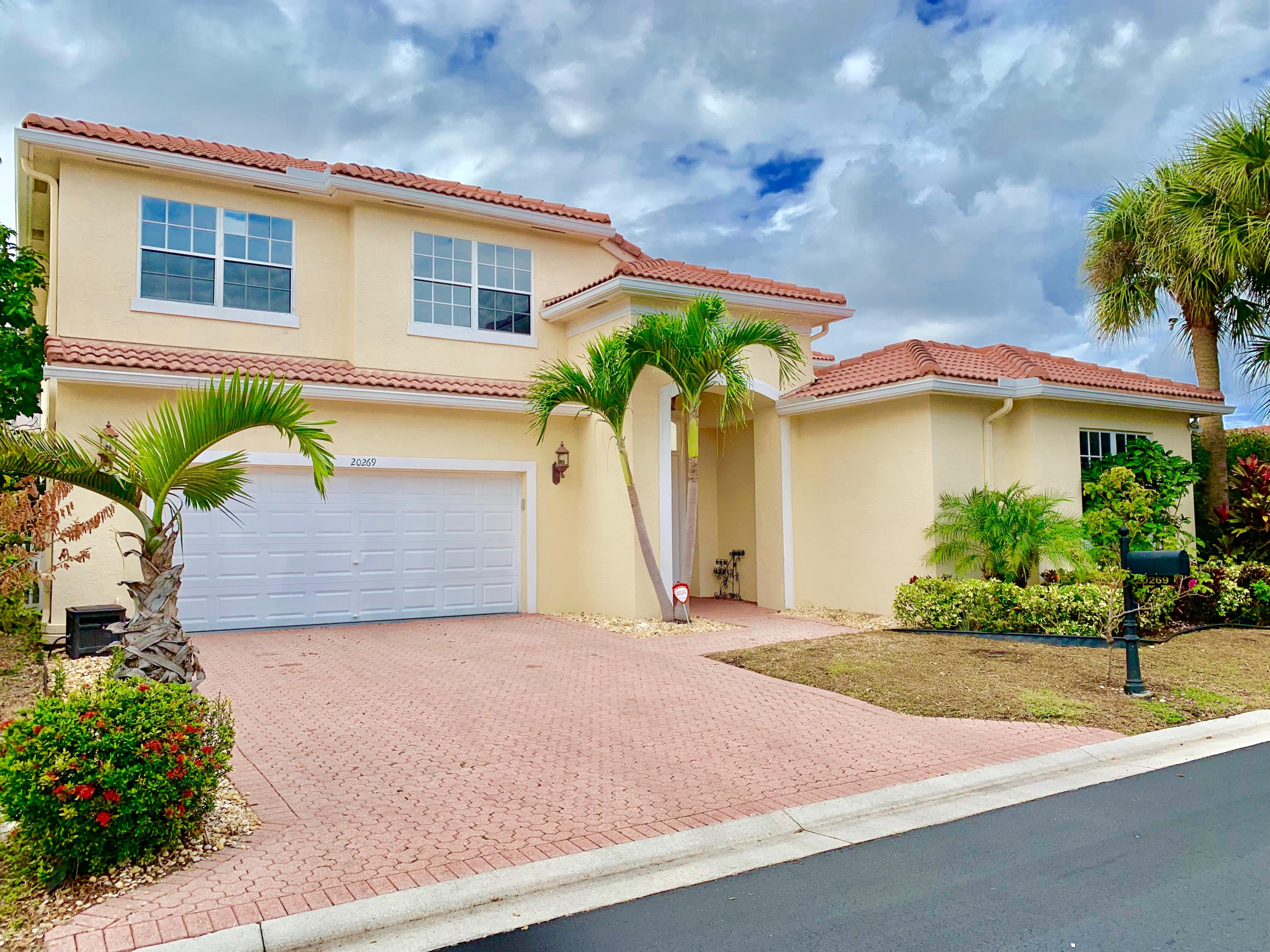 Spectacular 3700 total sq ft courtyard pool home! 5 bedrooms 3.5 baths w/2 car garage. Main house features 4 bedrooms all upstairs including master bedroom. Upstairs laundry room. Spacious family room opens to large private pool/patio area. Beautiful crown moldings.  Stainless appliances and granite countertops.  Separate guest house with full bathroom.  HOA fee includes cable with HBO, and internet. Community amenities include amazing resort style clubhouse with pool/hot tub/sauna, gym, basketball, tennis, playground, and soccer!