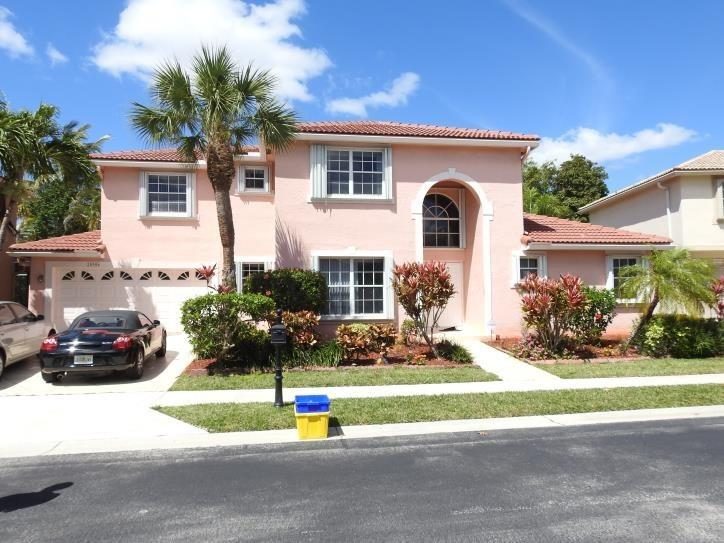 "''4 bed + Loft / 2.5 bath single family house for sale in Mission Bay, West Boca Raton. This 2-story house is 2,287 sq ft, with a 2-car garage, private pool, large open living area with 18 ft ceilings, a galley-style kitchen, accordion shutters and more! The house was substantially renovated in 2017, with new floors (tile on the ground floor, carpet on stairs and 2nd floor), new kitchen with wood cabinets, granite counters and stainless steel appliances. The ground floor has a formal dining room, eat-in kitchen, half bathroom and the master suite, with dual closets and a large bathroom with jetted tub. The second floor has 3 additional bedrooms and a full bathroom plus a huge loft area overlooking the living room, which can easily be made a 5th bedroom.  New roof in 2009, new a/c in 2010. The house is situated in the gated ""Regatta"" community within Mission Bay, just west of 441 on the south side of Glades Rd, with lots of points of interest within walking distance, including shops, restaurants and local schools. Great family house, lots of kids in the neighborhood, pet friendly with a fenced-in backyard. ! OPEN HOUSE SUNDAY, FEBRUARY 24TH, 1pm - 3pm"""