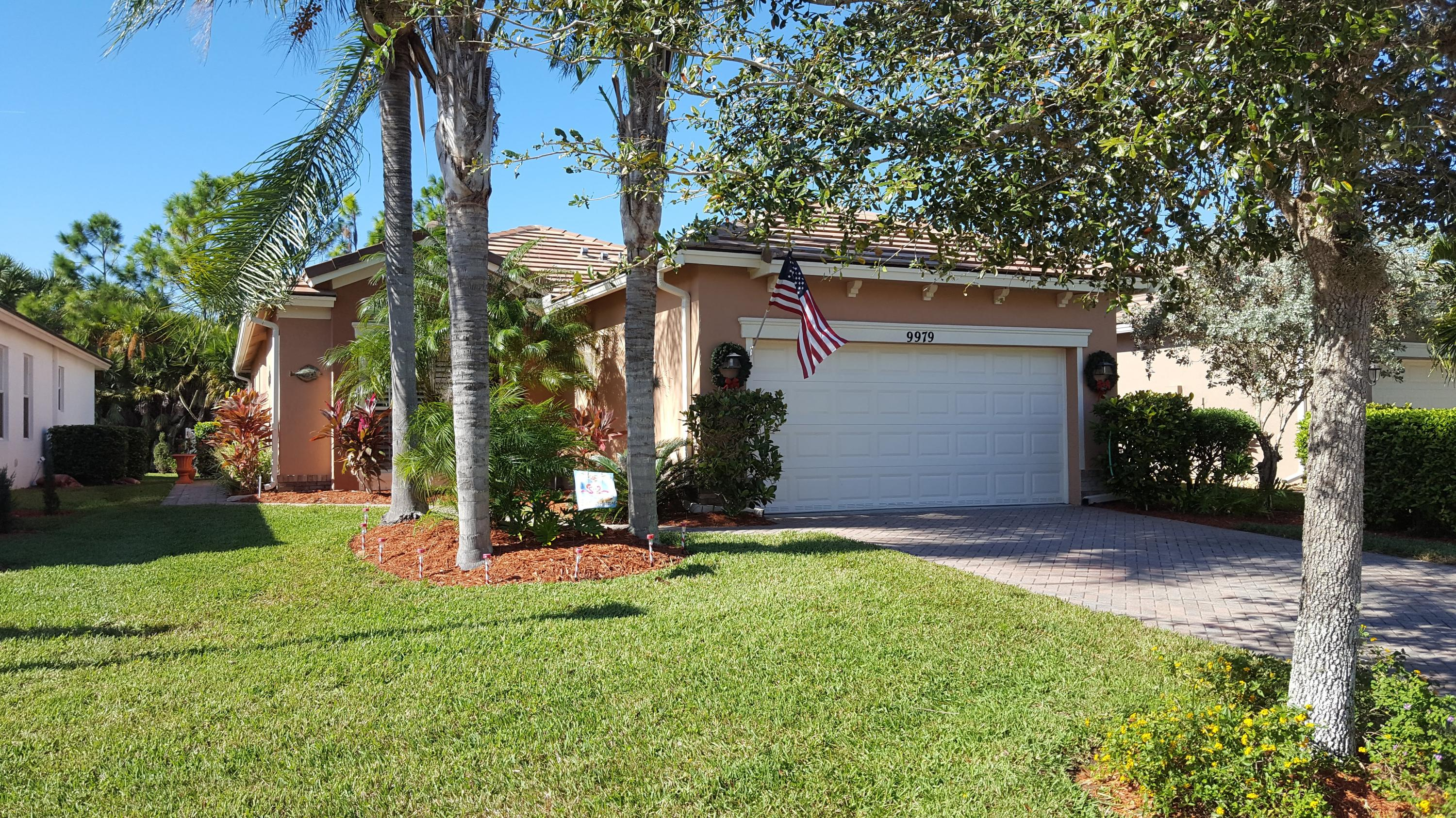 Stunning 3/2/2 open concept floor plan with numerous designer upgrades including glass entry door, plantation shutters, crown molding, wainscoating, ledge stone accent wall, black stainless Samsung appliances, granite counters with tiled backsplash and pendant lights above raised bar. Lovely landscaping, newly painted exterior, gutters and shaded, fenced yard. Meticulously maintained and cared for. Heritage Oaks is a family friendly gated community. Lovely clubhouse has swimming pool, weight room and an activity room which is used for several community activities. Begin living the dream...