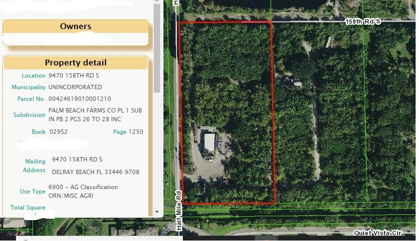 9470 158th Road, Delray Beach, Florida 33446, ,Land,For Sale,158th,RX-10494738