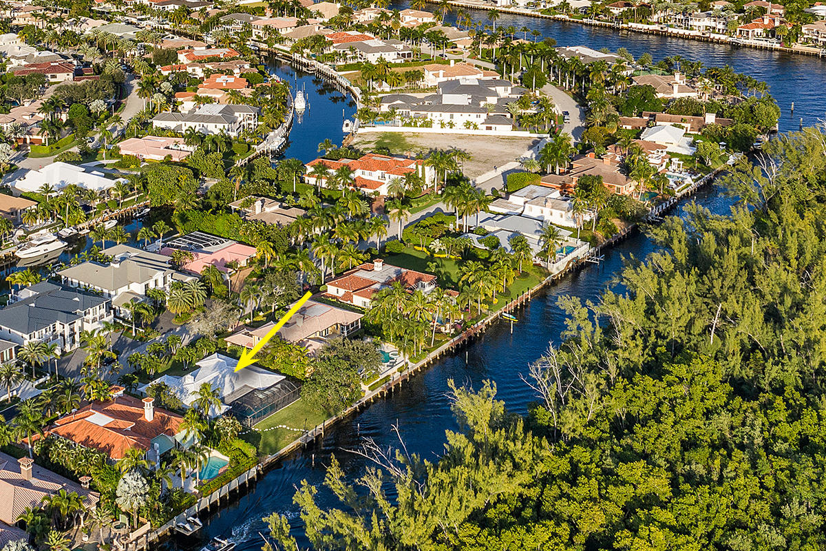Great opportunity to renovate or build your dream home in Boca Raton's most prestigious community, Royal Palm Yacht & Country Club! This waterfront home sits on 100' of water on an interior canal with south exposure, views of Capone Island, and direct Intracoastal and Ocean access. Home being offered in as-is condition.