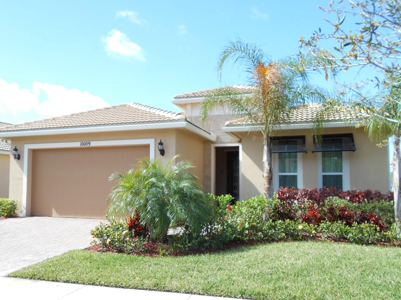 MOVE IN READY!! Vitalia 55+ Lauderdale model with 2 bedrooms, 1 large den, 2 baths, 2 car garage all on a beautiful lake. Only 2 years old with barrel tile roof, impact glass on all windows, extended lanai, all tile floor throughout, gas appliances, large open concept great room, plus too many upgrades to mention here. Vitalia community features many activities, 2 pools, spa, shows, dinner dances, arts and crafts, gym, ect.