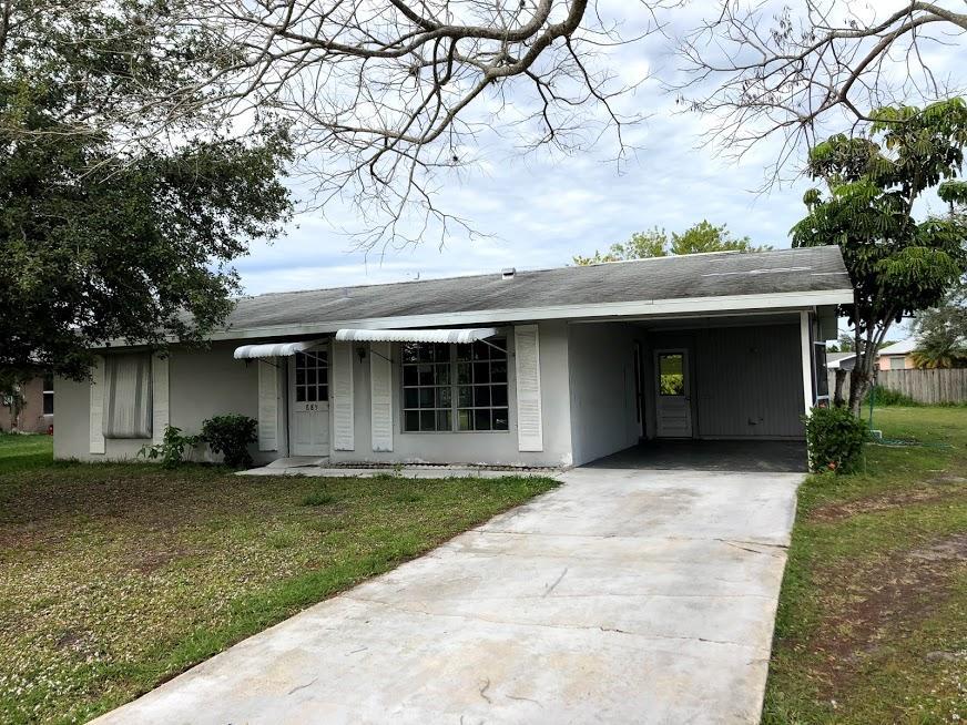 685 Chapman Avenue, Port Saint Lucie, Florida 34984, 2 Bedrooms Bedrooms, ,2 BathroomsBathrooms,Single Family,For Sale,Chapman,RX-10497528