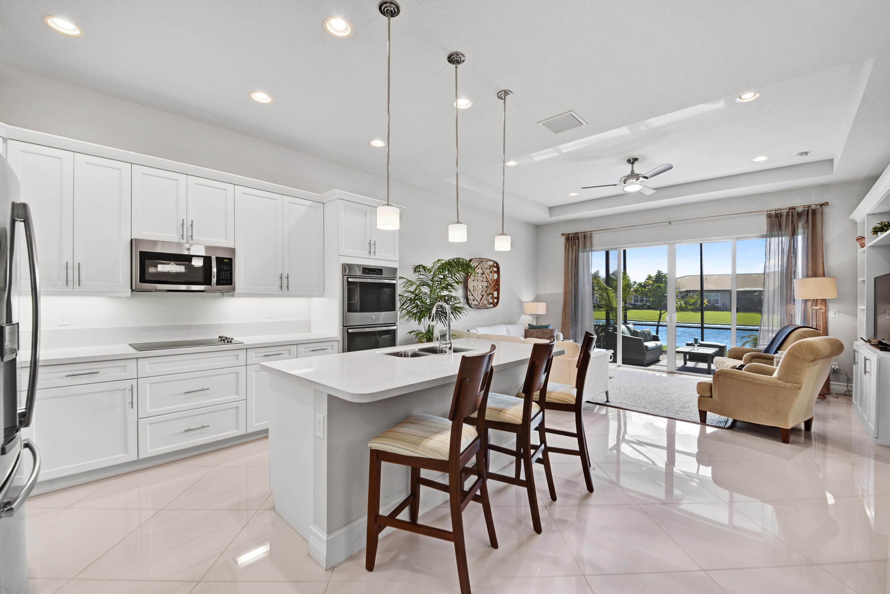 Stunning. Sought after Palma Model 3 bedroom plus den, 3 full bath single family home in Delray Beach.
