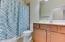 Hall Bath with combination shower/tub