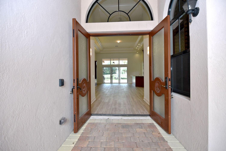 Leading into front door