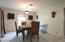 Formal dining area, just off the kitchen