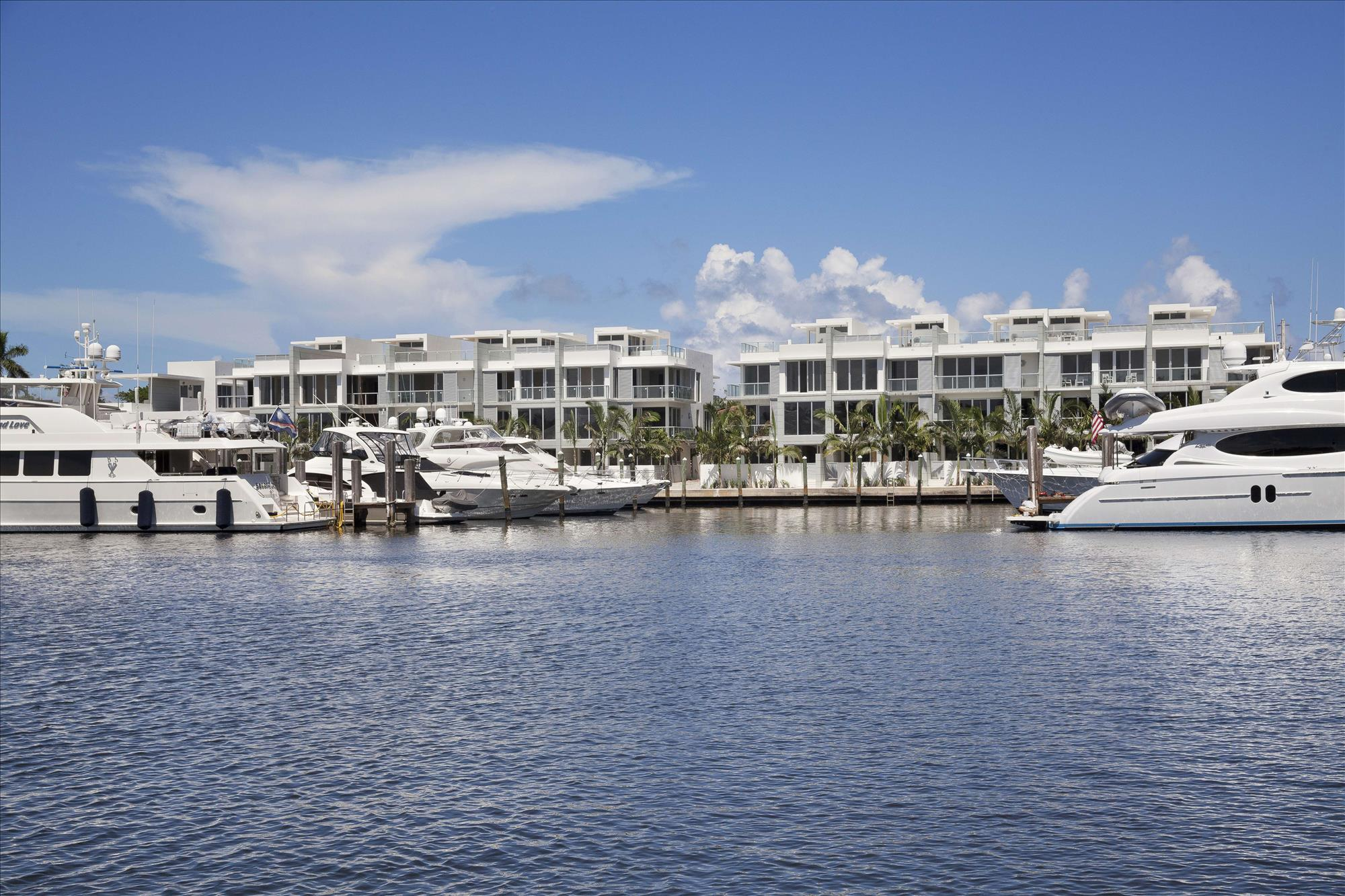 """Designed in an ultra-modern style, this private enclave of ten luxury residences lies within the Seagate Yach Club along the Intracoastal waterway, and boasts dramatic architectural flair.  The striking architectural statement made by the modern exterior is echoed within as well. Sweeping, open floorplans are complemented by floor-to-ceiling glass,clean lines and spectacular water views. The information herein is deemed reliable and subject to errors, omissions or changes without notice.  The information has been derived from architectural plans or county records. Buyer should verify all measurements. DISCLAIMER: The written and verbal information provided including but not limited to prices, measurements, square footages, lot sizes, calculations and statistics have been obtained and conveyed from third parties such as the applicable Multiple Listing Service, public records as well as other sources. All information including that produced by the Sellers or Listing Company are subject to errors, omissions or changes without notice and should be independently verified by any prospect for the purchase of a Property.  The Sellers and Listing Company expressly disclaim any warranty or representation regarding all information.  Prospective purchasers' use of this or any written and verbal information is acknowledgement of this disclaimer and that Prospects shall perform their own due diligence.  Prospective purchasers shall not rely on any written or verbal information provided when entering a contract for sale and purchase.  Some affiliations may not be applicable to certain geographic areas. If your property is currently listed, please do not consider this a solicitation. In the event a Buyer defaults, no commission will be paid to either Broker on the Deposits retained by the Seller.  """"No Commissions Paid until Title Passes.""""  Copyright 2018 Listing Company. All Rights Reserved."""