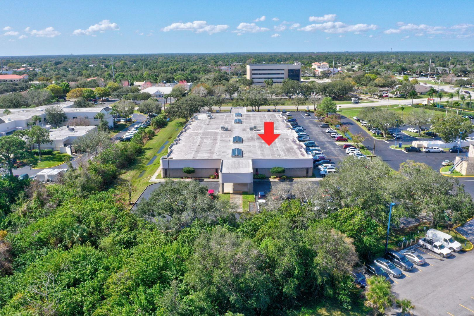 GREAT OPPORTUNITY TO OWN THIS TURNKEY MEDICAL OFFICE CONDOMINIUM RIGHT NEXT TO ST LUCIE MEDICAL CENTER AND THE CIVIC CENTER.. IN THE HEART OF THE CITY OF PORT ST LUCIE REDEVELOPMENT AREA. LARGE END UNIT WITH LOTS OF PARKING. OVER 2680 SF, UPDATED WITH CARPET, GRANITE COUNTERS, LARGE BILLING/FILE AREA. COMFORTABLE LIGHT & BRIGHT LOBBY, 8 EXAM OR LAB ROOMS, MOST WITH SINK WATER SOURCE. 2 VERY LARGE OFFICE OR CONSULTING ROOMS. ONE EXAM ROOM WITH WALL OF LOCKING CABINETS, PERFECT LAB SET UP. MAIN LOBBY ENTRANCE AND 2 OTHER OUTSIDE PRIVATE ENTRANCES. 4 BATHROOMS & A FULL EAT-IN KITCHEN.