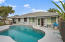 Pool and deck. Also has retractable awning.